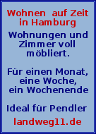 Wohnen auf Zeit in Hamburg
