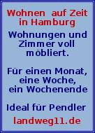 Wohnen auf Zeit in Hamburg